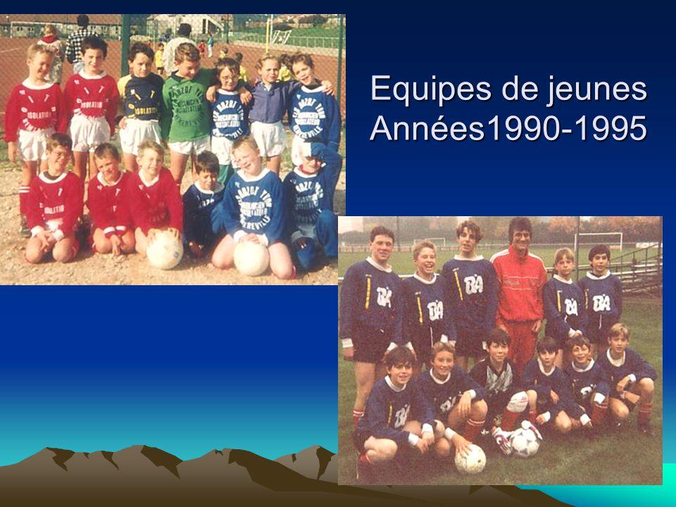Equipes de jeunes Années1990-1995