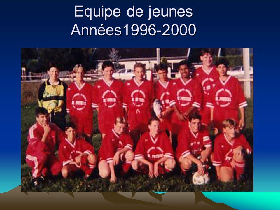 Equipe de jeunes Années1996-2000