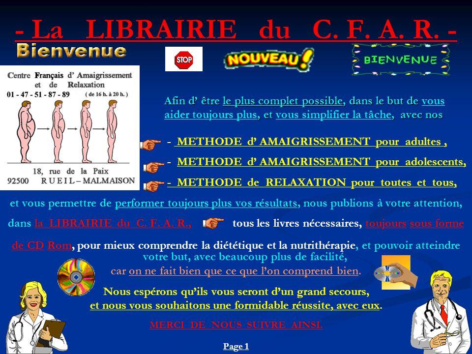 - La LIBRAIRIE du C.F. A. R.