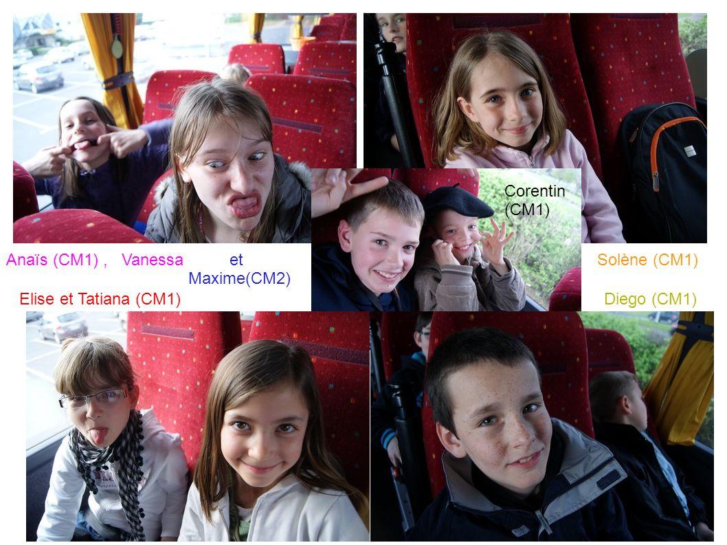 Anaïs (CM1), VanessaSolène (CM1) Elise et Tatiana (CM1) Diego (CM1) et Maxime(CM2) Corentin (CM1)