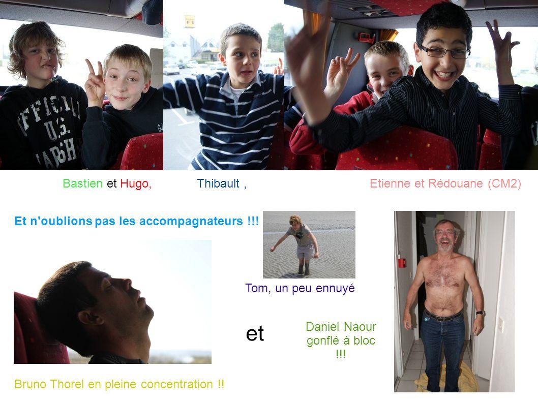 Bastien et Hugo,Etienne et Rédouane (CM2)Thibault, Et n'oublions pas les accompagnateurs !!! Bruno Thorel en pleine concentration !! et Daniel Naour g