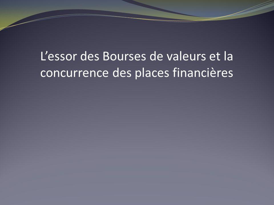 Lessor des Bourses de valeurs et la concurrence des places financières
