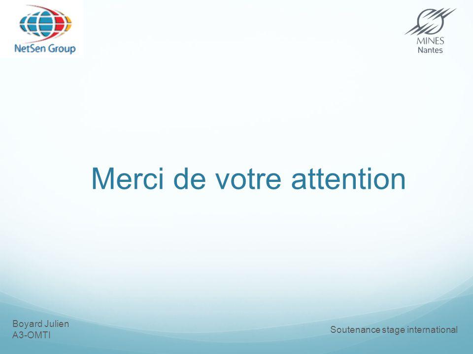 Boyard Julien A3-OMTI Soutenance stage international Merci de votre attention