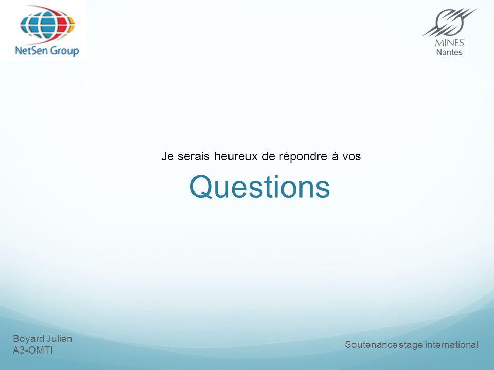 Boyard Julien A3-OMTI Soutenance stage international Questions Je serais heureux de répondre à vos