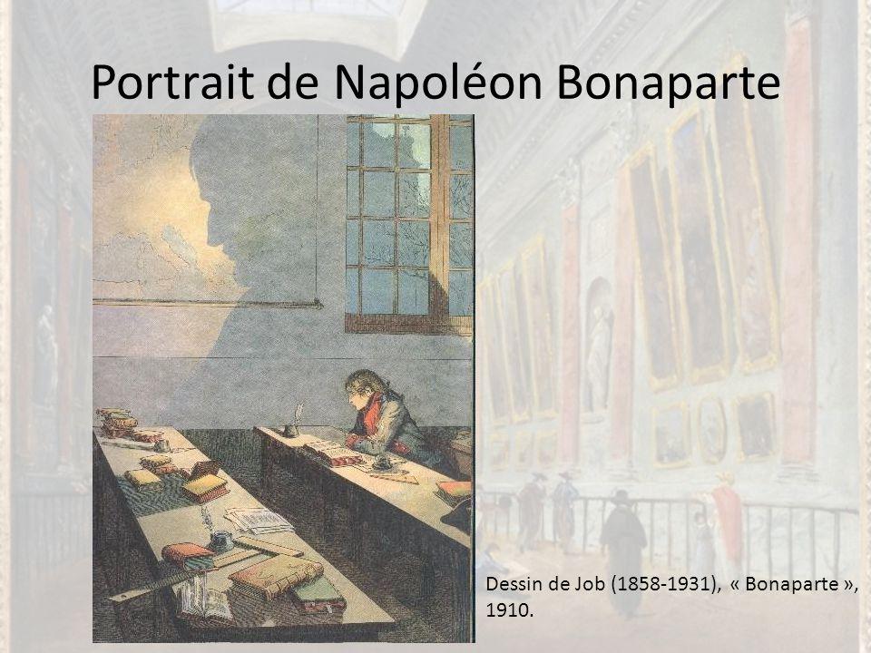 Portrait de Napoléon Bonaparte Dessin de Job (1858-1931), « Bonaparte », 1910.