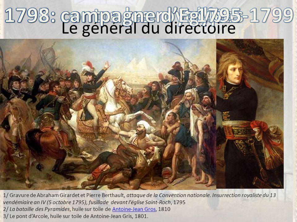 Le général du directoire 1/ Gravure de Abraham Girardet et Pierre Berthault, attaque de la Convention nationale. Insurrection royaliste du 13 vendémia