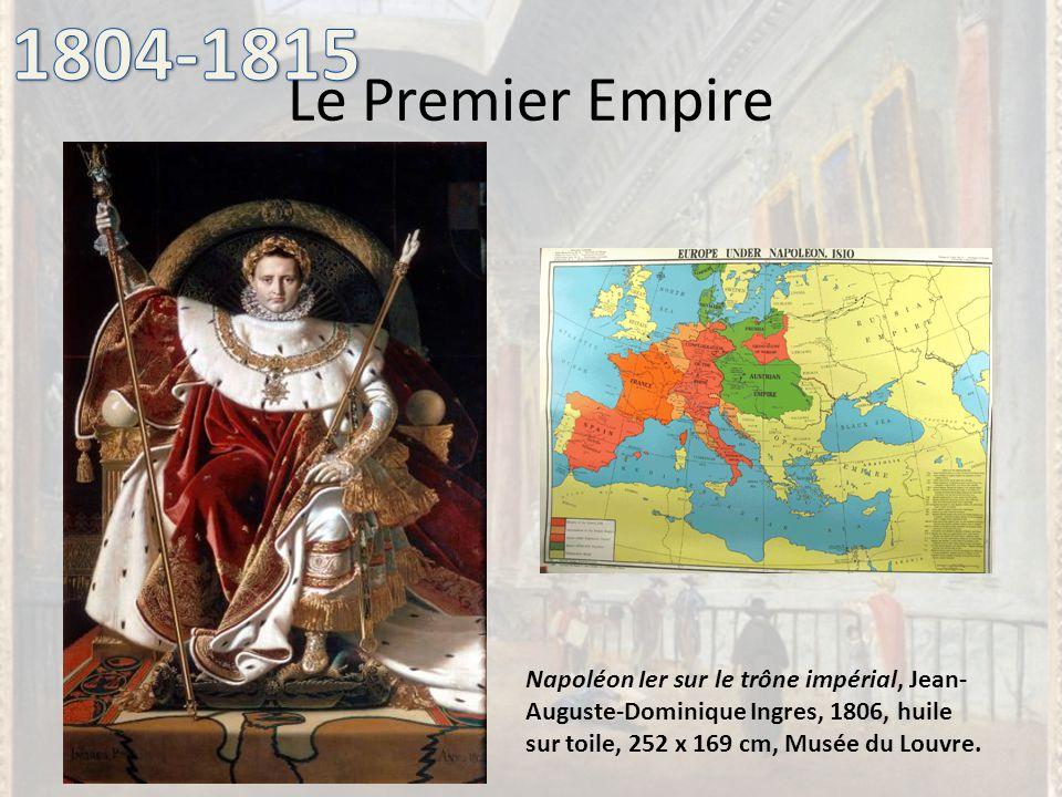 Le Premier Empire Napoléon Ier sur le trône impérial, Jean- Auguste-Dominique Ingres, 1806, huile sur toile, 252 x 169 cm, Musée du Louvre.