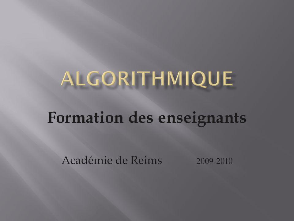 Formation des enseignants Académie de Reims 2009-2010