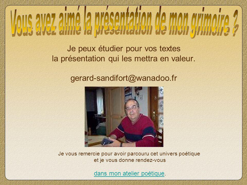 Richard Clayderman - Notre Amour réalisé avec MadTracker 2 Création Gérard SANDIFORT Tous droits réservés – 2006 http://poesies.forumculture.net/index