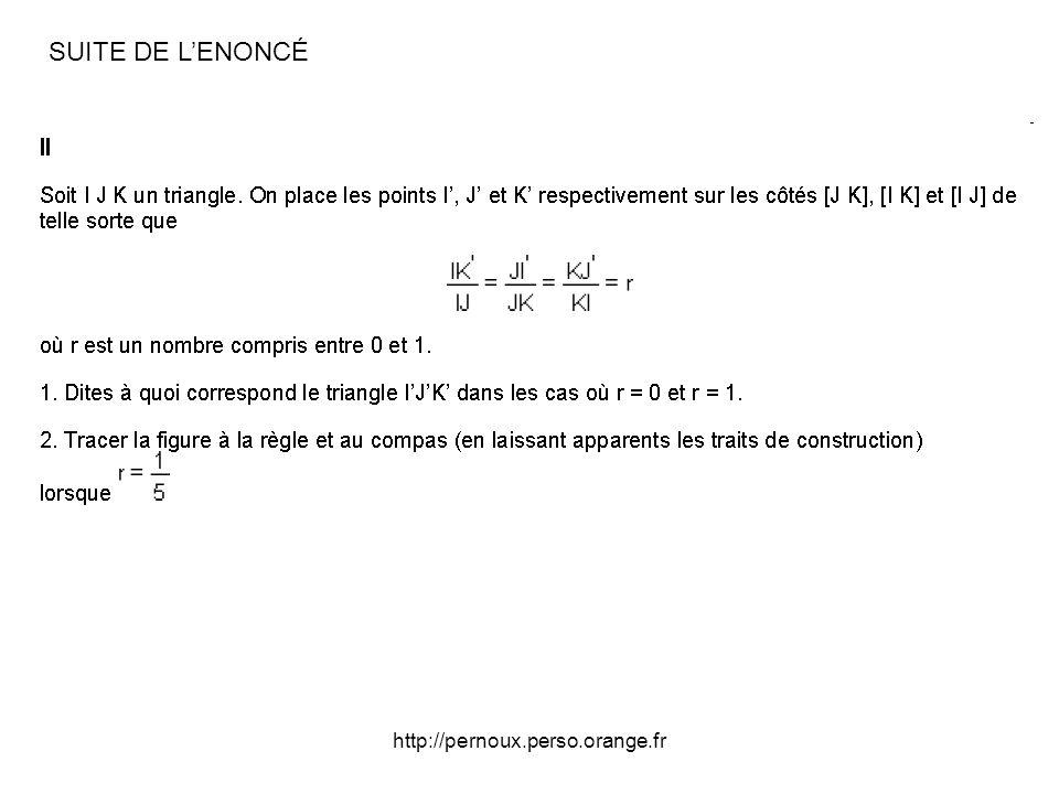 http://pernoux.perso.orange.fr CORRIGÉ