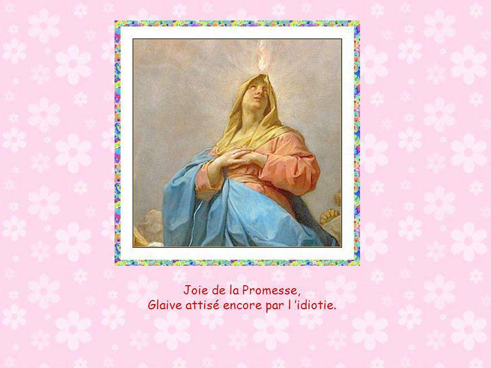 Joie de l annonce faite à Marie, Glaive annoncé par le vieillard Siméon.