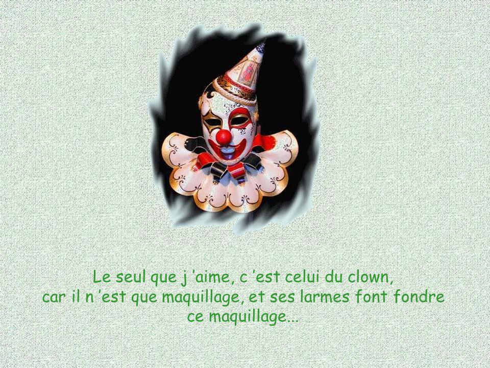 Paraître, Fallacieuse vie de la façade, Crépi pourri de l intérieur, Je n aime pas le masque !