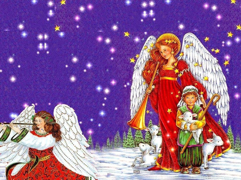 Deux anges sont venus ce soir, et jai ri. Deux anges sont venus ce soir, et jai souri à la Lumière quils donnaient. Deux anges sont venus ce soir, et