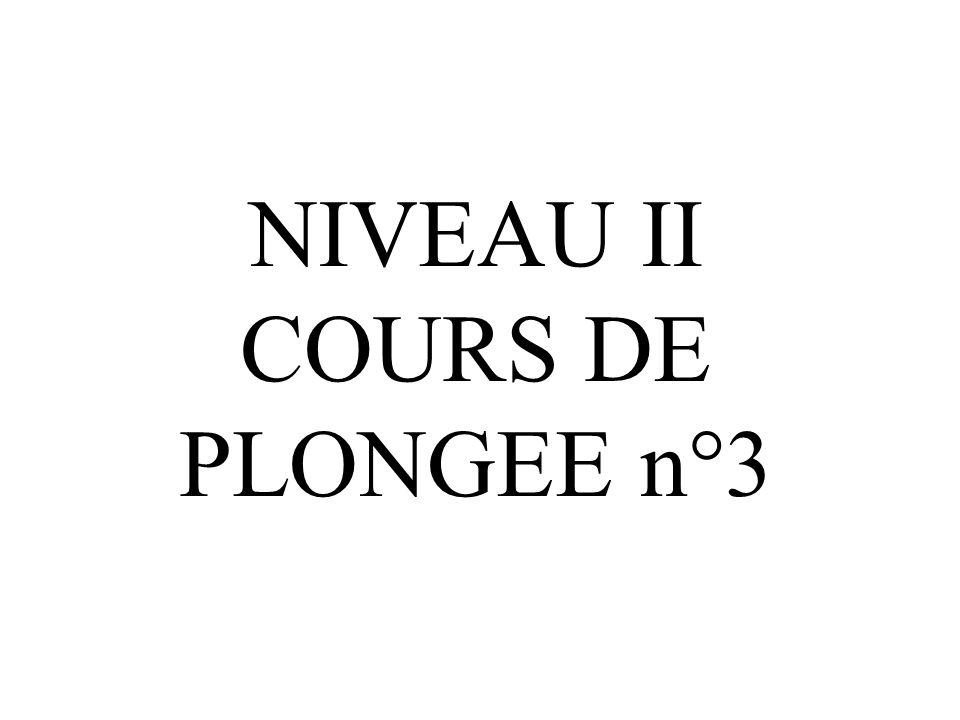NIVEAU II COURS DE PLONGEE n°3