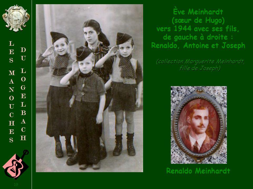 9 LESMANOUCHESLESMANOUCHES DULOGELBACHDULOGELBACH Atteinte de tuberculose, Albertine, fille de Philippine Meinhardt, est décédée à Colmar en 1955 à lâge de 17 ans.