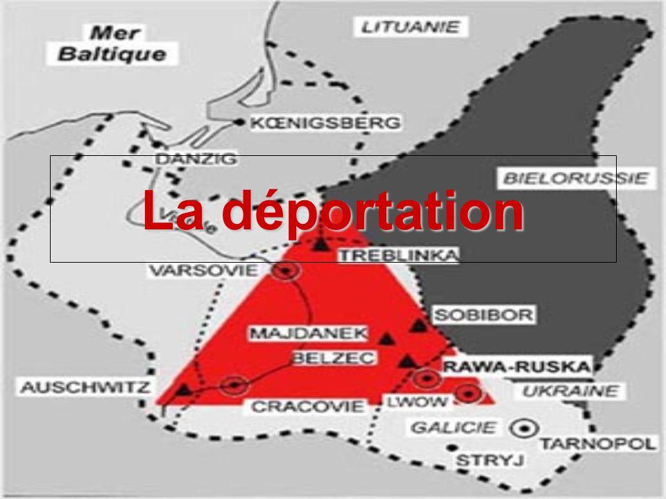 Définition avant lhorreur Nazie La déportation est l action de chasser quelqu un, plus souvent un groupe de personnes, de son territoire ou de son pays en le maintenant en captivité ou non.