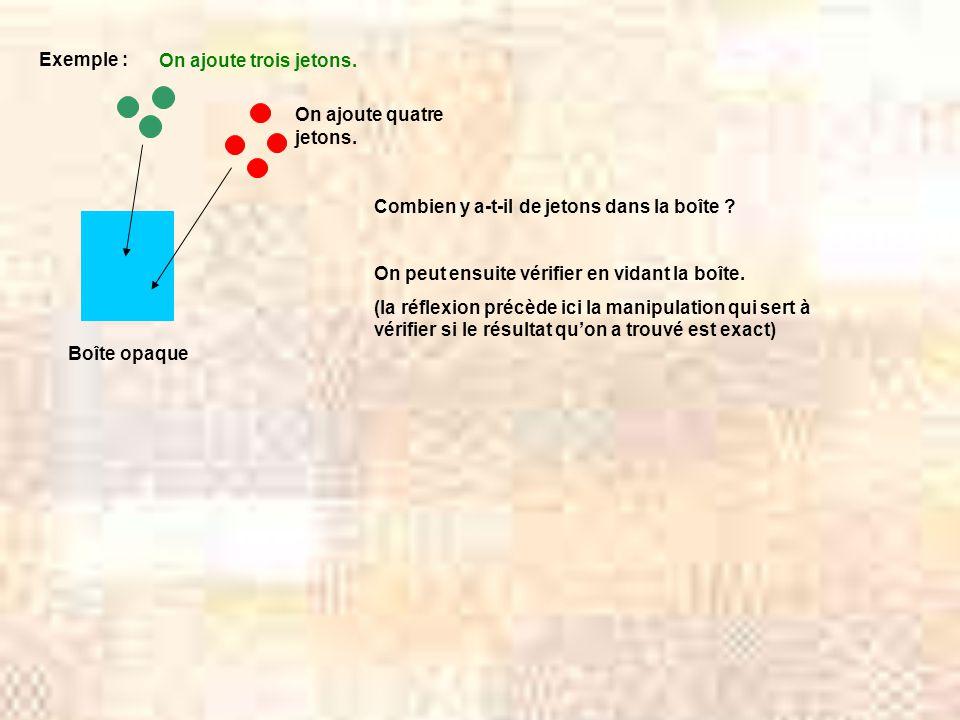 Exemple : Boîte opaque Combien y a-t-il de jetons dans la boîte .