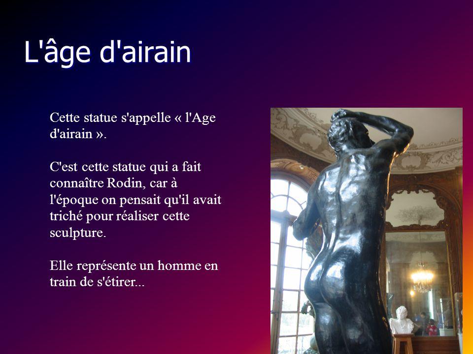 Le Baiser Cette sculpture représente un homme, Paolo, qui embrasse sa belle-soeur Francesca. Les amants furent poignardés par le mari jaloux. Cette st