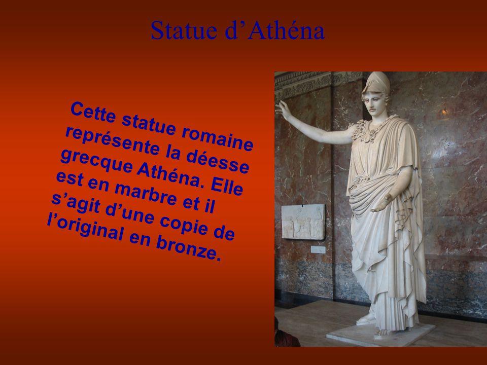 Statue dAthéna Cette statue romaine représente la déesse grecque Athéna.