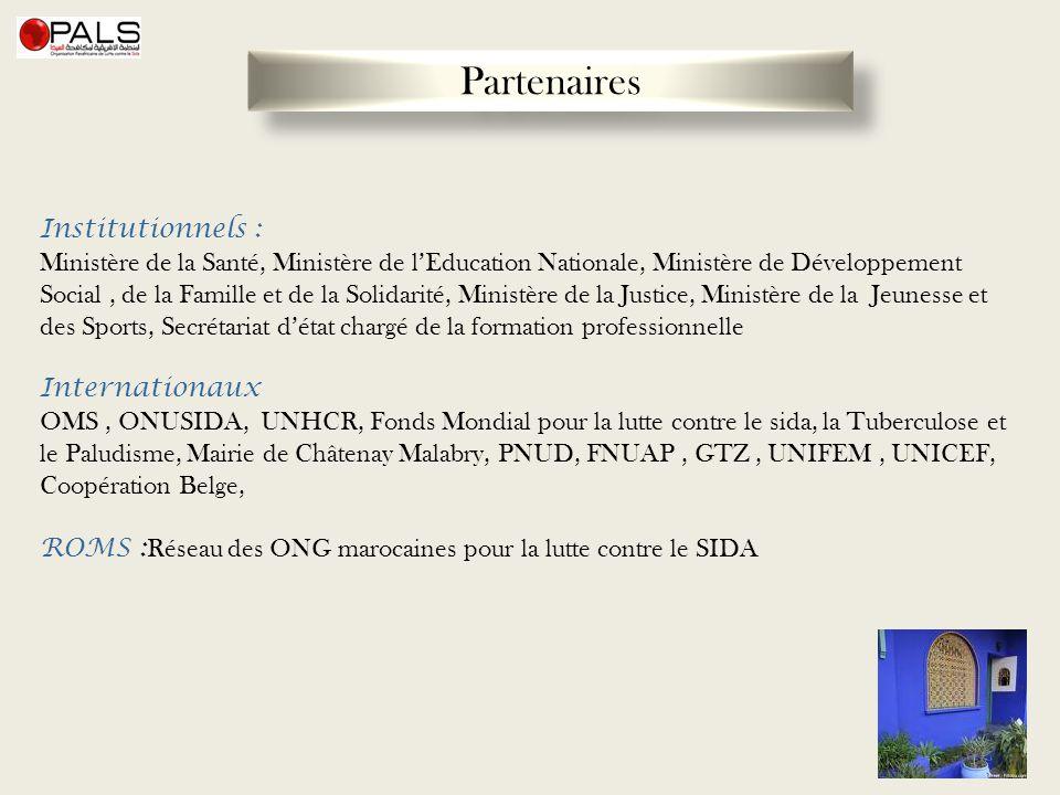 Institutionnels : Ministère de la Santé, Ministère de lEducation Nationale, Ministère de Développement Social, de la Famille et de la Solidarité, Mini