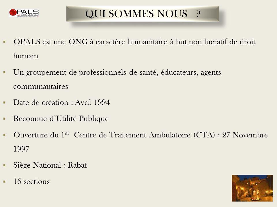OPALS est une ONG à caractère humanitaire à but non lucratif de droit humain Un groupement de professionnels de santé, éducateurs, agents communautair