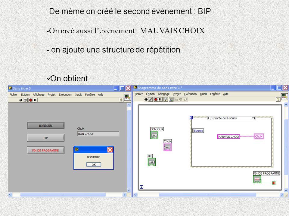 e) Séquencement : Lorsque l on souhaite que des actions se déroulent dans un ordre bien défini, on utilise une structure de blocs séquence.