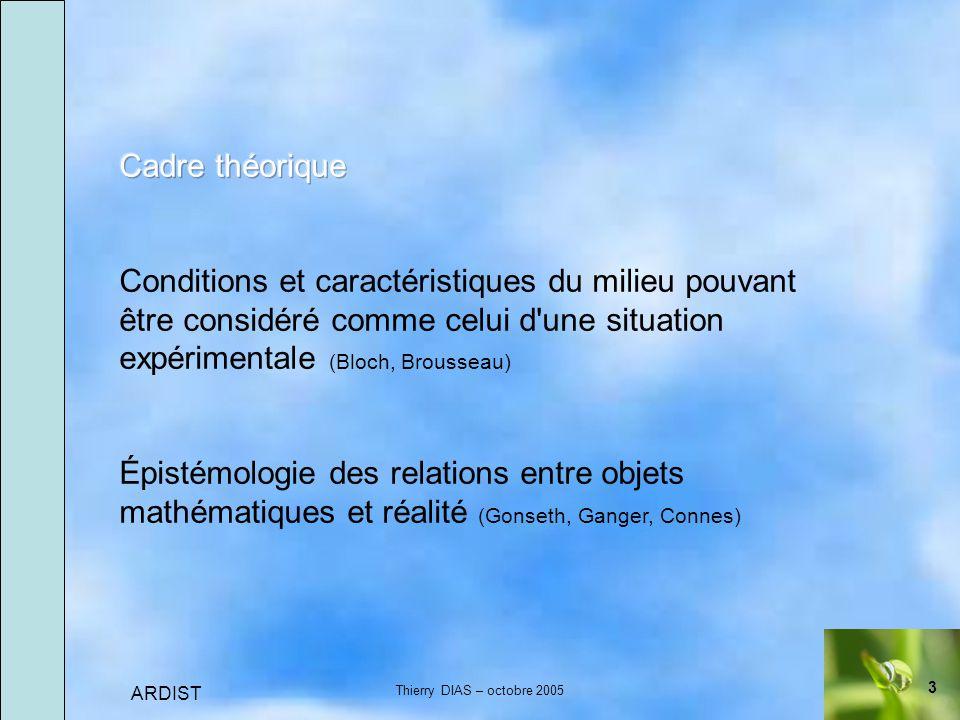3 ARDIST Thierry DIAS – octobre 2005