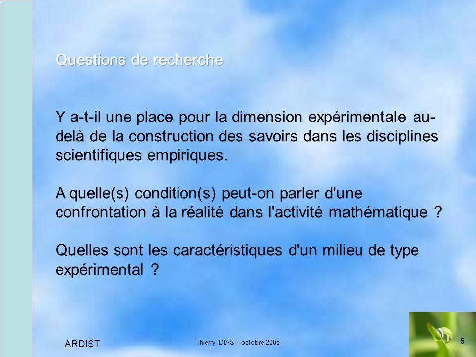 5 ARDIST Thierry DIAS – octobre 2005