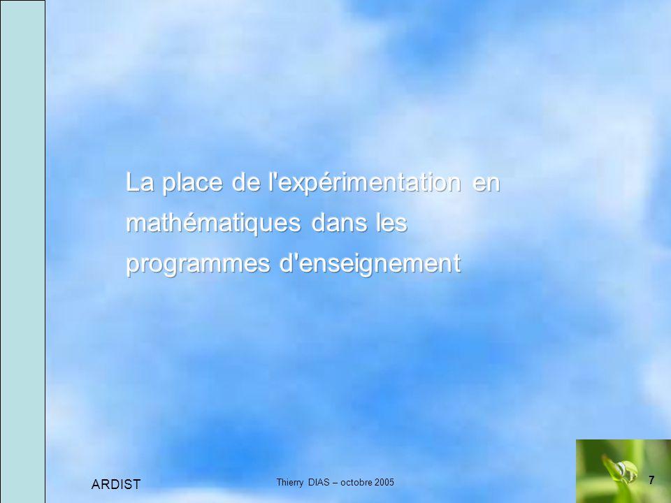 7 ARDIST Thierry DIAS – octobre 2005