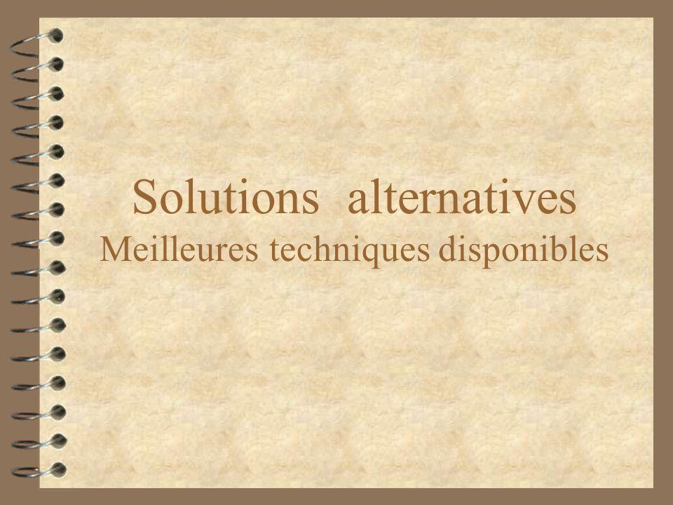 Solutions alternatives Meilleures techniques disponibles