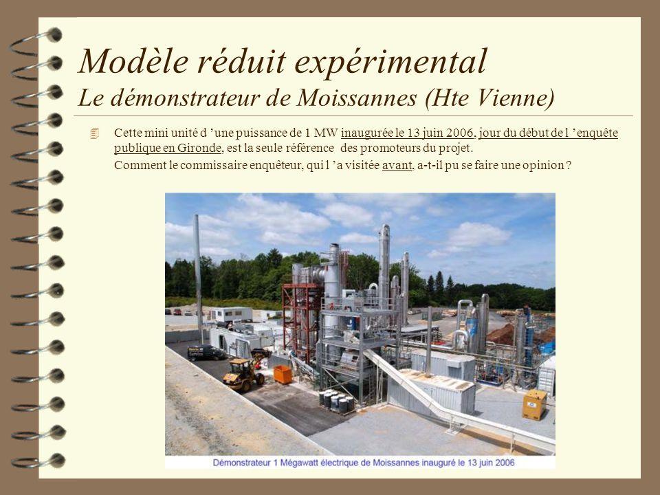 Modèle réduit expérimental Le démonstrateur de Moissannes (Hte Vienne) 4 Cette mini unité d une puissance de 1 MW inaugurée le 13 juin 2006, jour du d