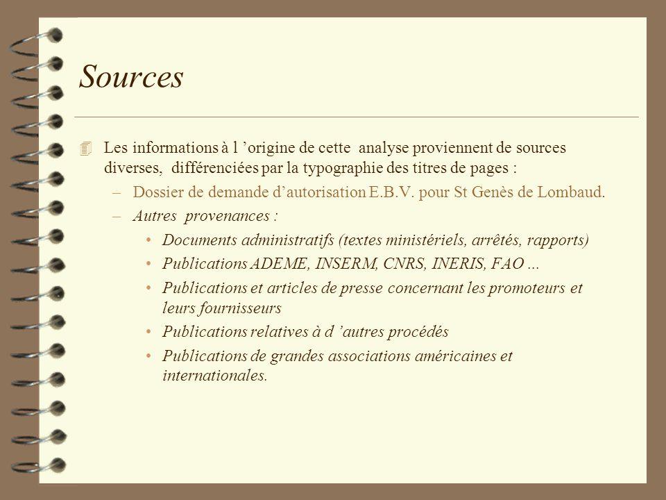 Sources 4 Les informations à l origine de cette analyse proviennent de sources diverses, différenciées par la typographie des titres de pages : –Dossi