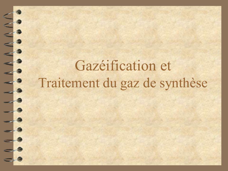 Gazéification et Traitement du gaz de synthèse