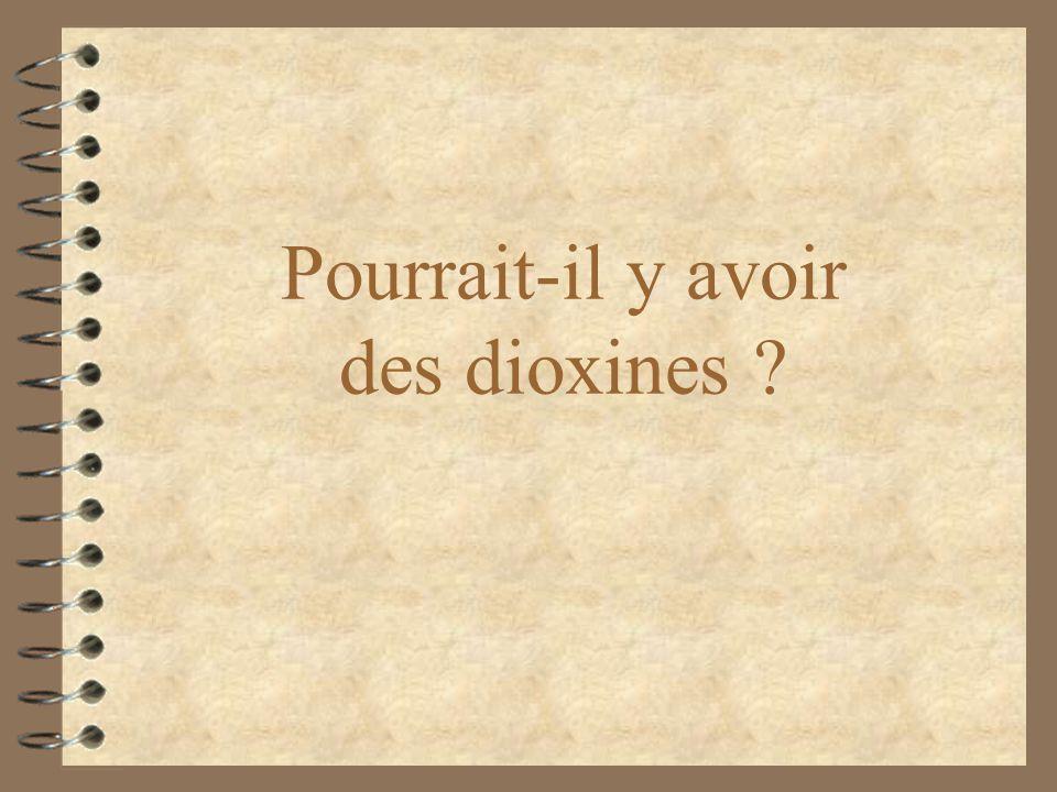 Pourrait-il y avoir des dioxines ?