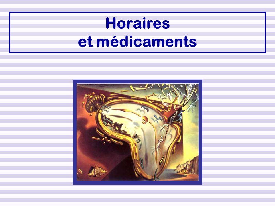 Horaires et médicaments
