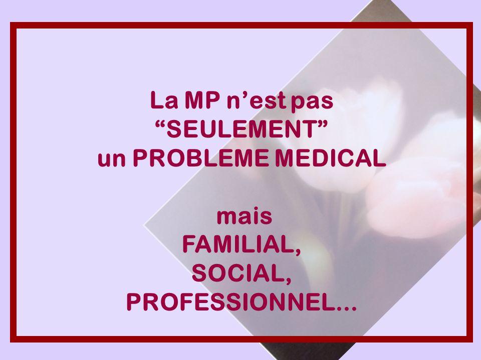 La MP nest pas SEULEMENT un PROBLEME MEDICAL mais FAMILIAL, SOCIAL, PROFESSIONNEL...