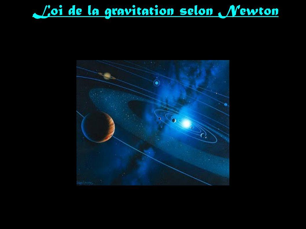 Loi de la gravitation selon Newton