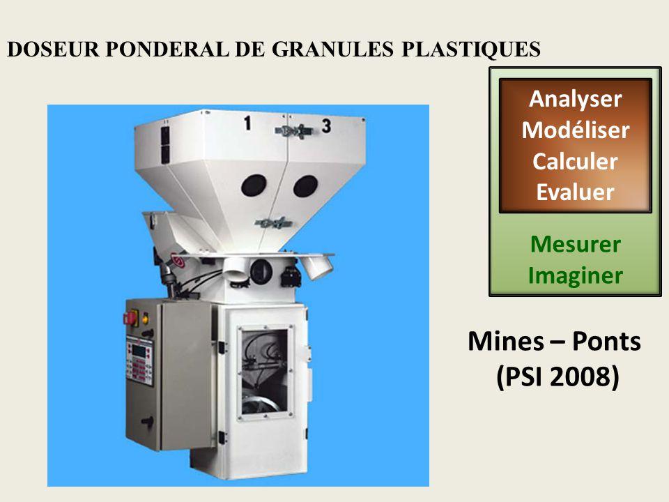 DOSEUR PONDERAL DE GRANULES PLASTIQUES Mines – Ponts (PSI 2008) Mesurer Imaginer Analyser Modéliser Calculer Evaluer