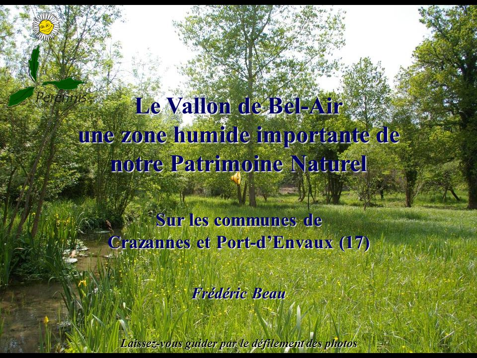 Le Vallon de Bel-Air une zone humide importante de notre Patrimoine Naturel Frédéric Beau Sur les communes de Crazannes et Port-dEnvaux (17) Laissez-vous guider par le défilement des photos