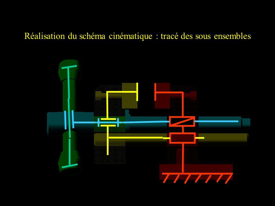 Réalisation du schéma cinématique : tracé des sous ensembles