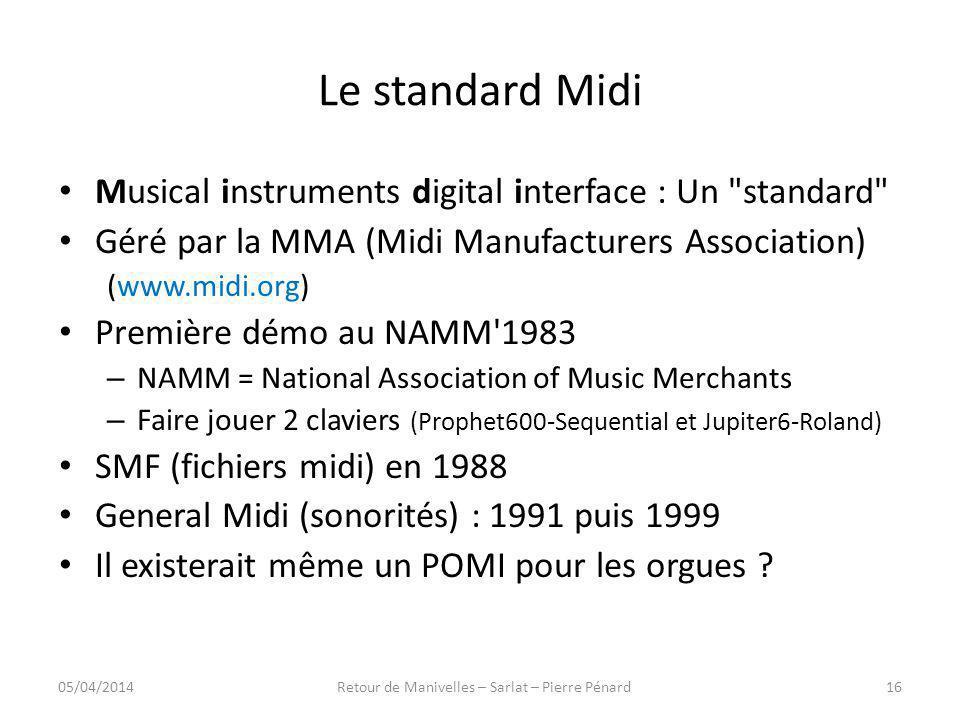 Le standard Midi Musical instruments digital interface : Un