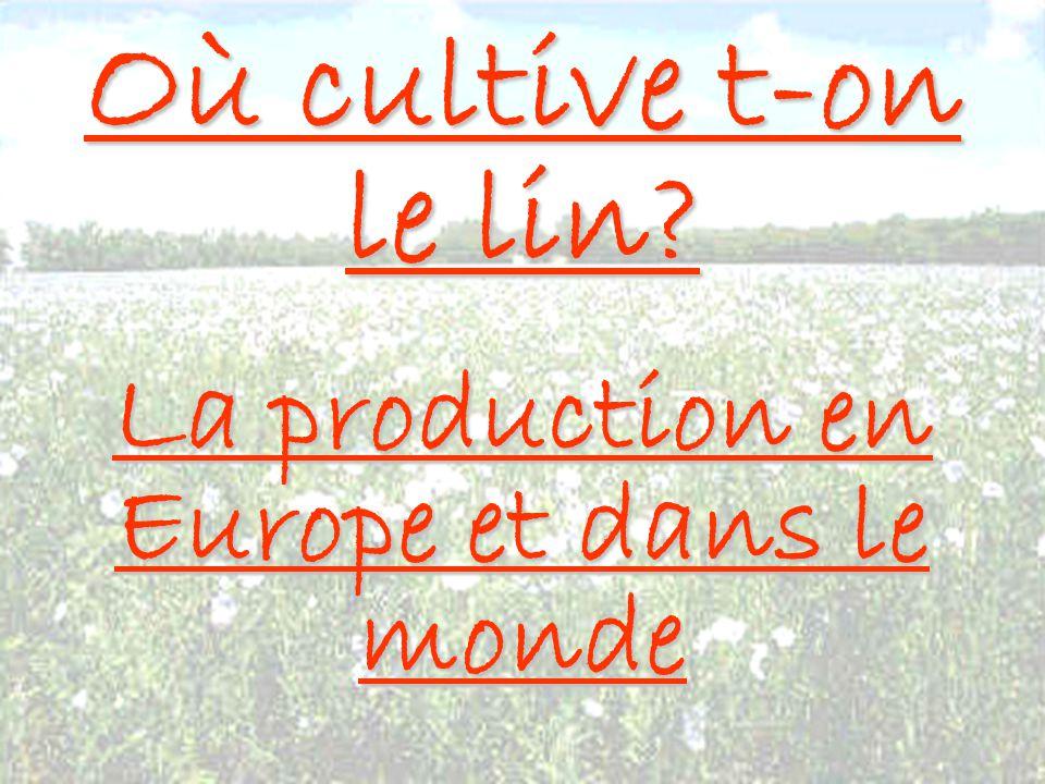 Où cultive t-on le lin? La production en Europe et dans le monde
