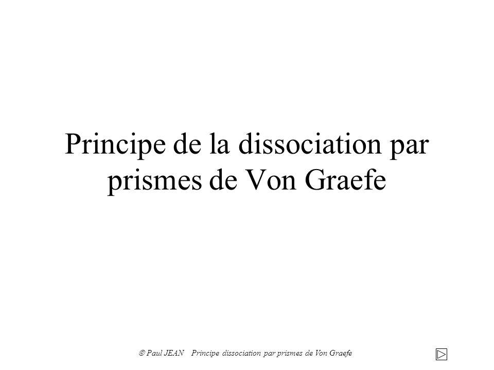 Principe de la dissociation par prismes de Von Graefe Paul JEAN Principe dissociation par prismes de Von Graefe