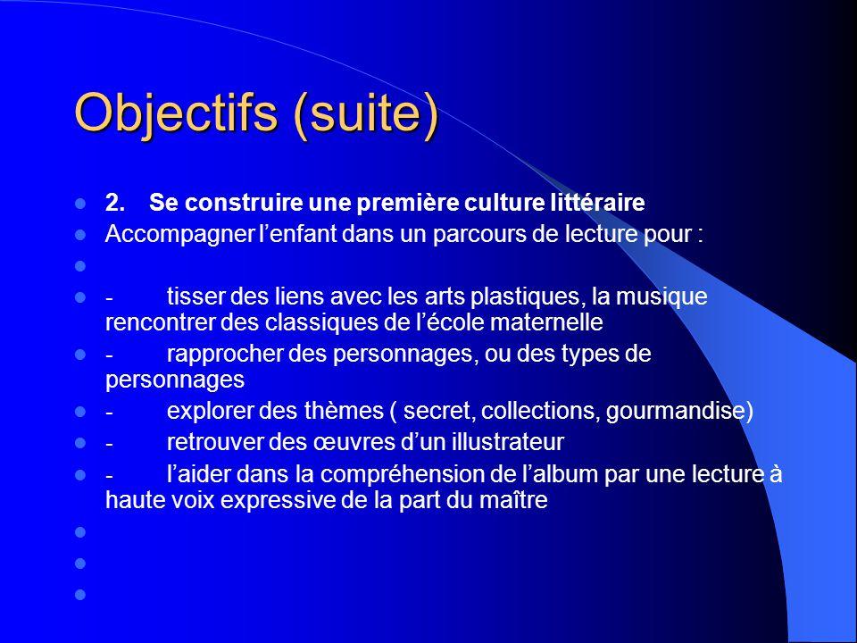 OBJECTIFS (suite) - développer les compétences du langage écrit : reformuler dans ses propres mots un passage lu par lenseignant raconter lhistoire de