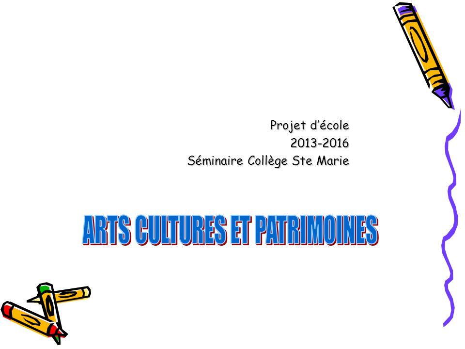 Projet décole 2013-2016 Séminaire Collège Ste Marie