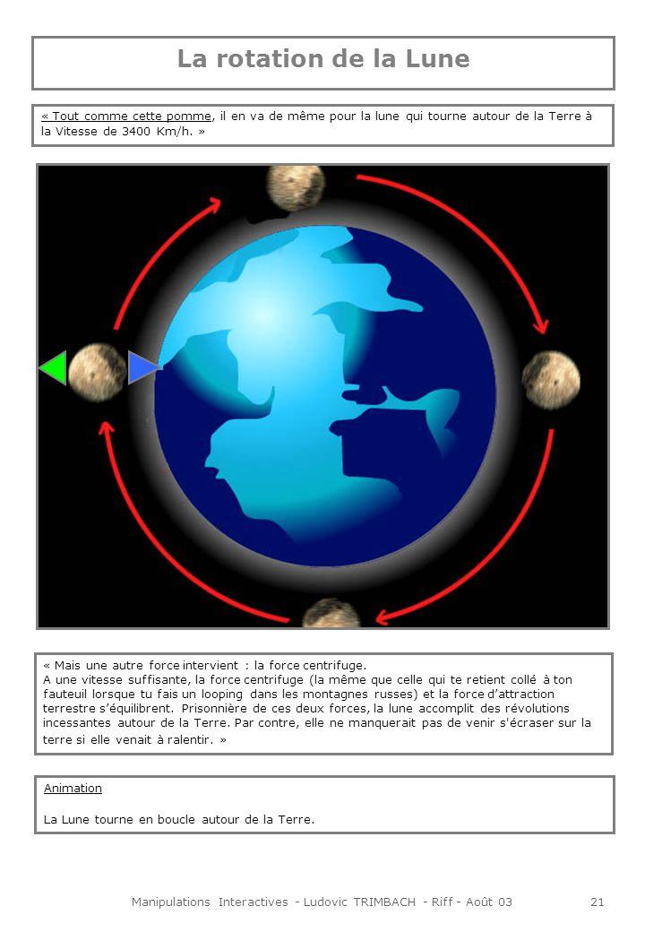 Manipulations Interactives - Ludovic TRIMBACH - Riff - Août 0321 « Mais une autre force intervient : la force centrifuge.