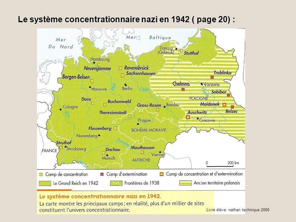 Le système concentrationnaire nazi en 1942 ( page 20) : Livre élève: nathan technique.2006