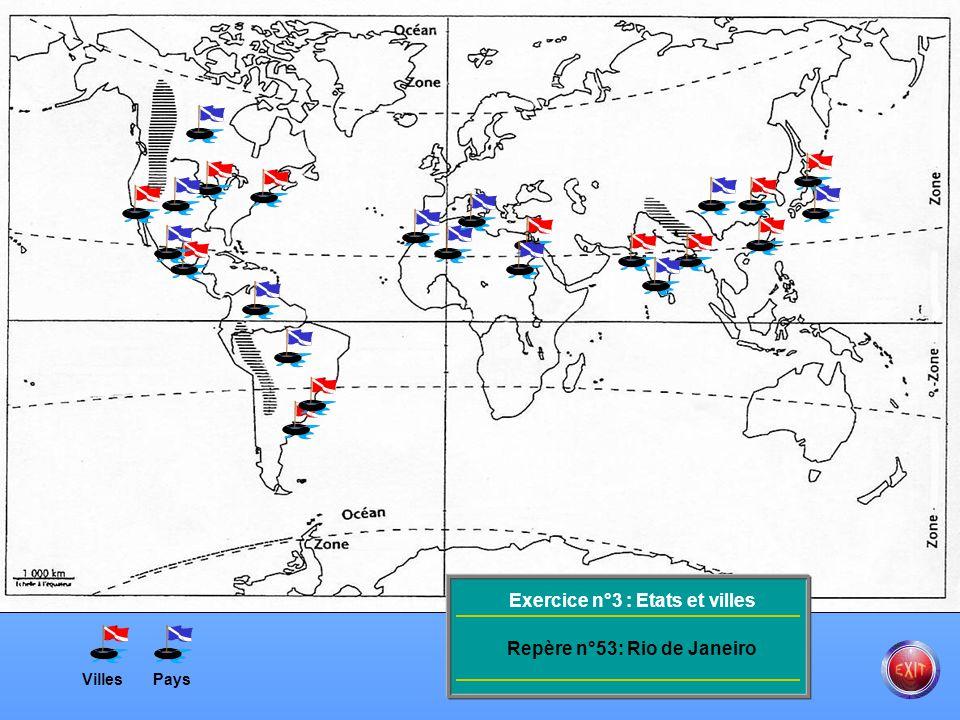 VillesPays Exercice n°3 : Etats et villes Repère n°53: Mexico