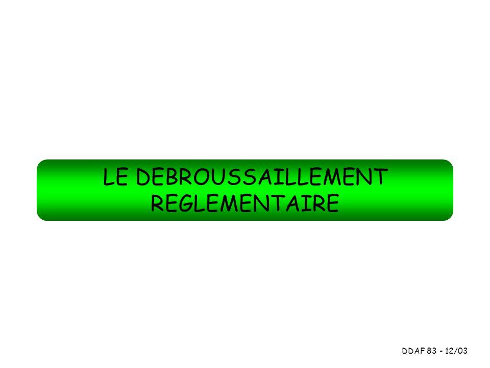 CONTEXTE REGLEMENTAIRE DEFINITION Art L.321-5.3 et art.