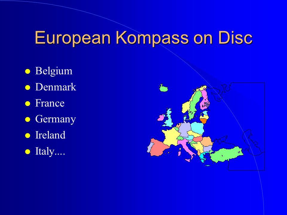 European Kompass on Disc l Belgium l Denmark l France l Germany l Ireland l Italy....